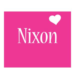Nixon love-heart logo