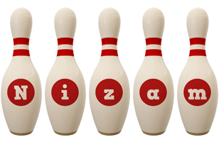 Nizam bowling-pin logo