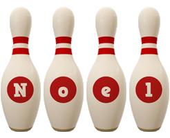 Noel bowling-pin logo