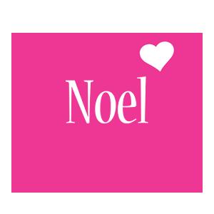 Noel love-heart logo
