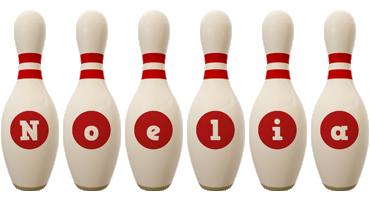 Noelia bowling-pin logo