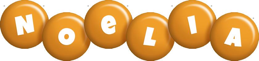 Noelia candy-orange logo