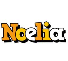 Noelia cartoon logo