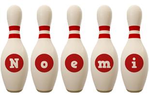 Noemi bowling-pin logo