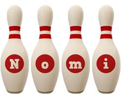 Nomi bowling-pin logo