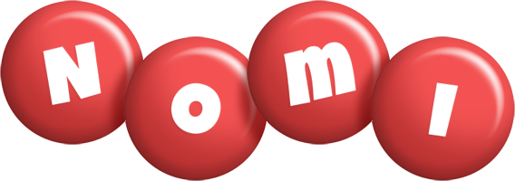 Nomi candy-red logo