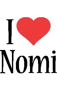 Nomi i-love logo