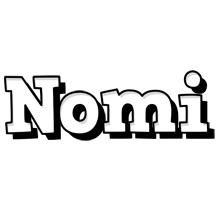 Nomi snowing logo