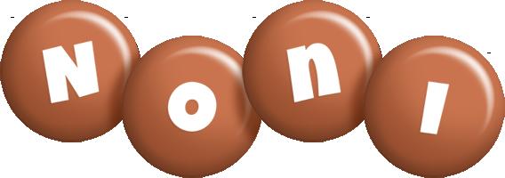 Noni candy-brown logo