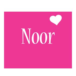 Noor love-heart logo