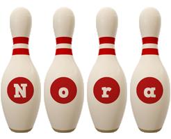 Nora bowling-pin logo