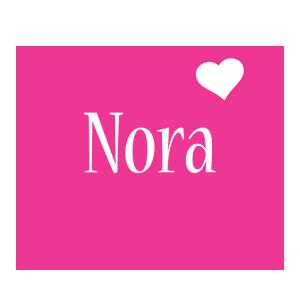 Nora love-heart logo