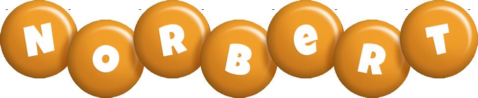 Norbert candy-orange logo