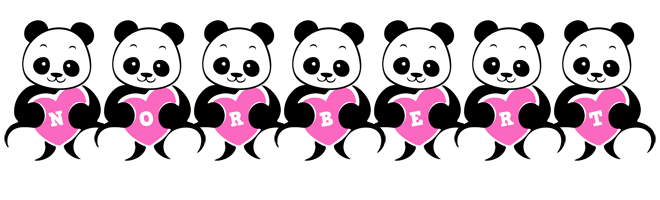 Norbert love-panda logo