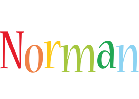 Norman birthday logo