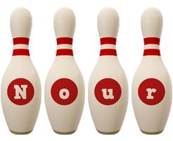 Nour bowling-pin logo