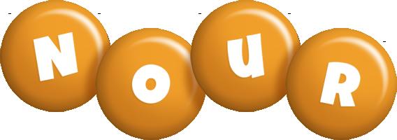 Nour candy-orange logo