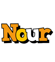 Nour cartoon logo