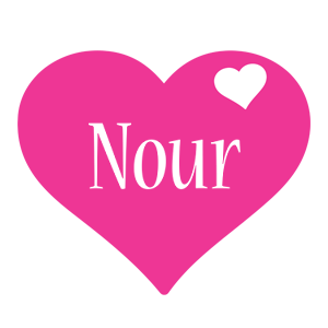 Nour love-heart logo