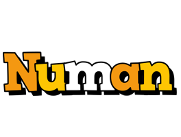 Numan cartoon logo
