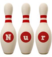 Nur bowling-pin logo