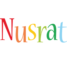 Nusrat birthday logo