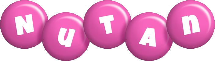 Nutan candy-pink logo