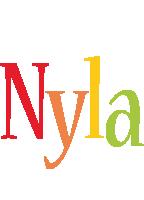 Nyla birthday logo