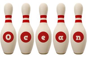 Ocean bowling-pin logo