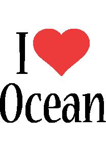 Ocean i-love logo