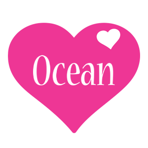 Ocean love-heart logo