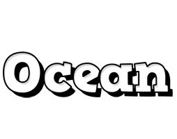 Ocean snowing logo
