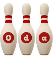 Oda bowling-pin logo
