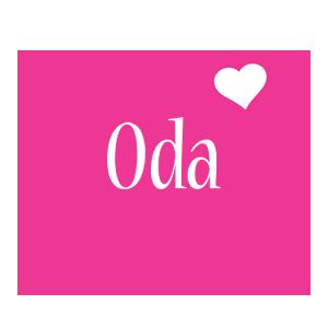 Oda love-heart logo