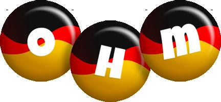 Ohm german logo