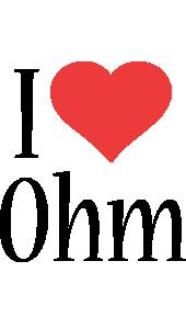 Ohm i-love logo