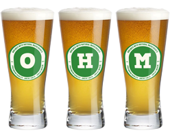 Ohm lager logo