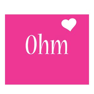 Ohm love-heart logo