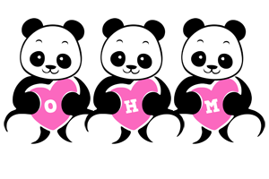 Ohm love-panda logo