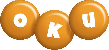 Oku candy-orange logo