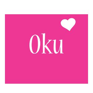 Oku love-heart logo