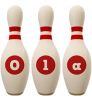 Ola bowling-pin logo