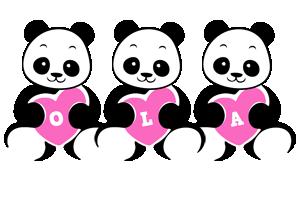 Ola love-panda logo