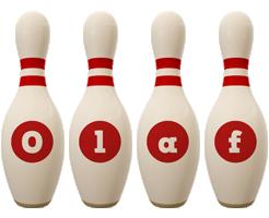 Olaf bowling-pin logo