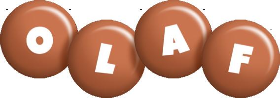 Olaf candy-brown logo