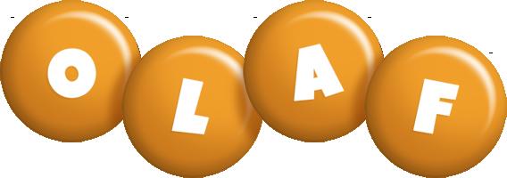 Olaf candy-orange logo