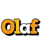 Olaf cartoon logo