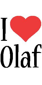Olaf i-love logo