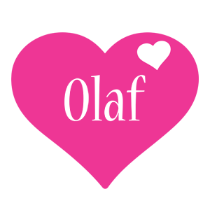 Olaf love-heart logo