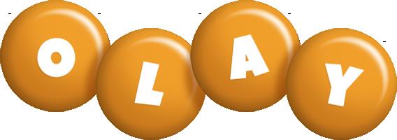 Olay candy-orange logo